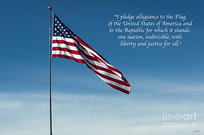 Photograph - Pledge Of Allegiance by Imagery by Charly