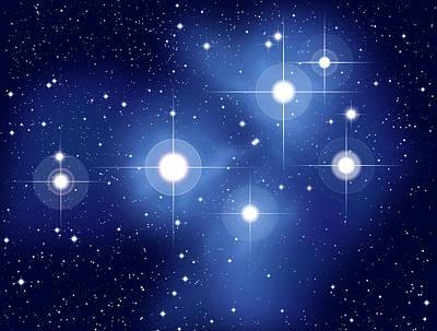 Pleiades Digital Art - Pleiades by Peter Hermes Furian