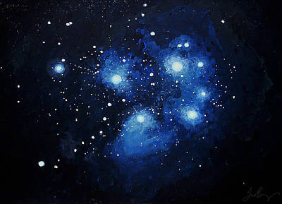 Constellations Painting - Pleiades The Seven Sisters by Timothy Benz