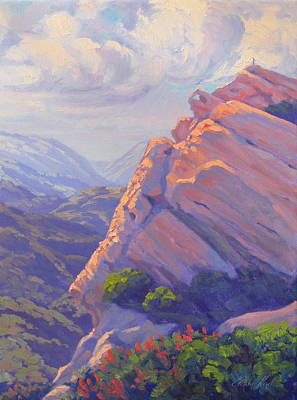 Southern California Painting - Plein Air Artist Facing The Storm by Elena Roche