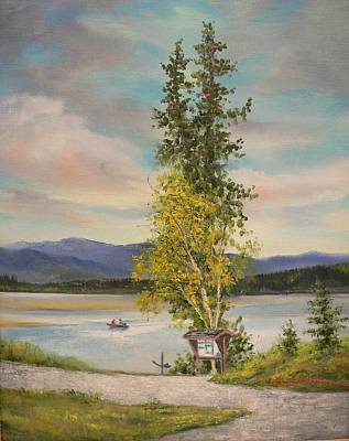 Painting - Plein Air Fishing  by Gracia  Molloy