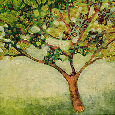 Tree Painting - Plein Air Garden Series No 8 by Jennifer Lommers