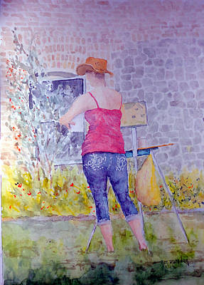 Painting - Plein Air Painter by Ken Marsden
