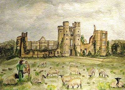 Plein Air Painting At Cowdray House Sussex Art Print