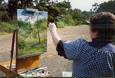 Painting - Plein Air Painting  by Gracia  Molloy