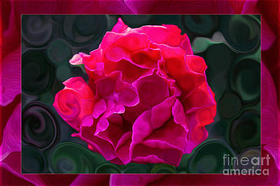 Painting - Plentiful Supplies Of Pink Peony Petals Abstract by Omaste Witkowski