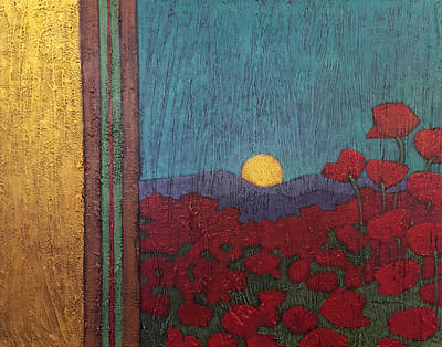 Painting - Plentiful Vista With Poppies by Carrie MaKenna