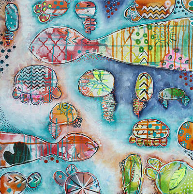 Florida Artists Mixed Media - Plenty Of Fish In The Sea by Rischa Heape