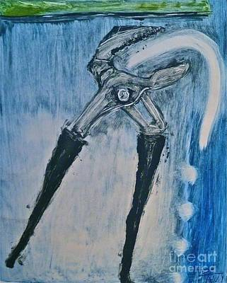 Monoprint Drawing - Pliers Energy by Avi Zamir