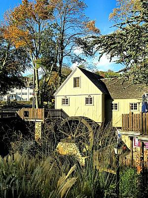 Photograph - Plimoth Grist Mill In Fall by Janice Drew