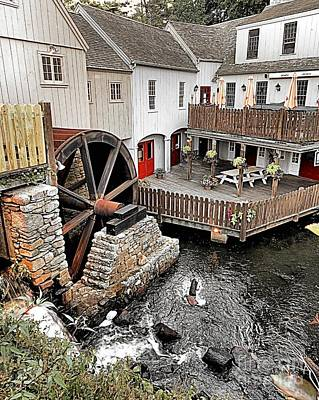 Photograph - Plimoth Grist Mill by Janice Drew