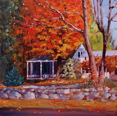 Massachusetts Painting - Plimpton Street by Laura Lee Zanghetti