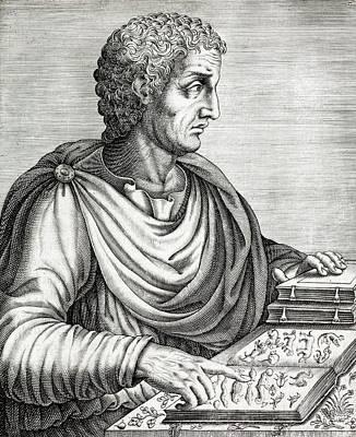 Historia Wall Art - Photograph - Pliny The Elder Roman Naturalist Ad77 by Paul D Stewart/science Photo Library
