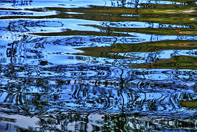 Photograph - Plitvice Lakes Abstract Reflections by Stuart Litoff