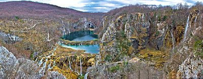Photograph - Plitvice Lakes Canyon Panoramic View by Brch Photography