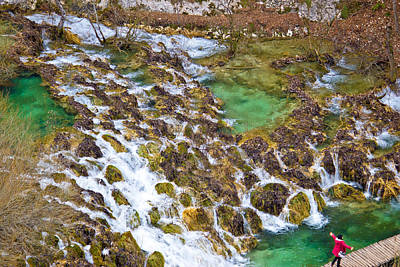 Photograph - Plitvice Lakes Cascades Aerial View by Brch Photography