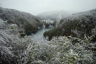 Photograph - Plitvice Lakes In Winter 1 by Rudi Prott