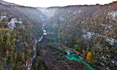 Photograph - Plitvice Lakes National Park Canyon In Fog by Brch Photography