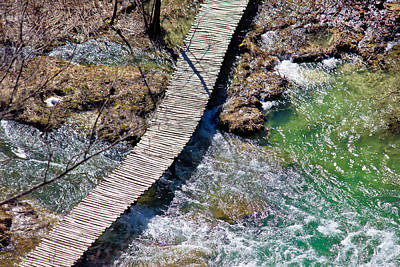Photograph - Plitvice Lakes National Park Wooden Boardwalk by Brch Photography
