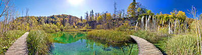 Photograph - Plitvice Lakes Paradise Nature Panoramic View by Brch Photography