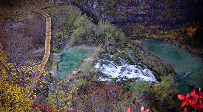Photograph - Plitvice Lakes Paradise Waterfall And Nature by Brch Photography
