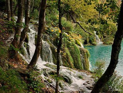Photograph - Plitvice Lakes Waterfall by Joe Bonita
