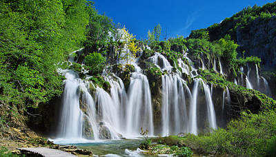 Reflection Photograph - Plitvice Waterfalls by Ivan Slosar