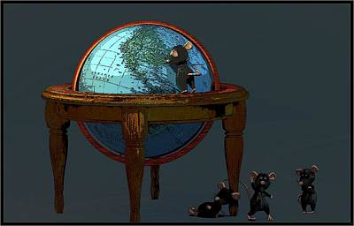 Digital Art - Plotting To Conquer The World... by Tim Fillingim