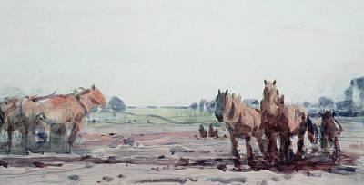 Plow Horses Art Print