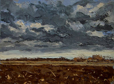 Painting - Plowed Field By Greenbelt by Les Herman