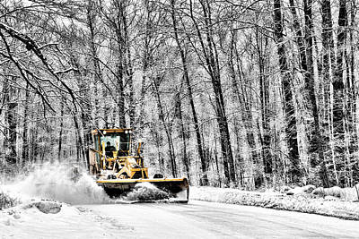 Country Scene Photograph - Plowin Snow by Paul Freidlund