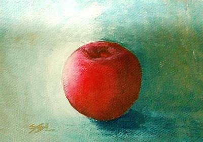 Art Print featuring the painting Plum 2 by Jane  See