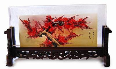 Plum Blossom In Screen Original by Guohui Wang