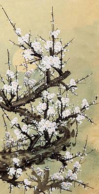 Scenery Digital Art - Plum Blossom by Vii-photo