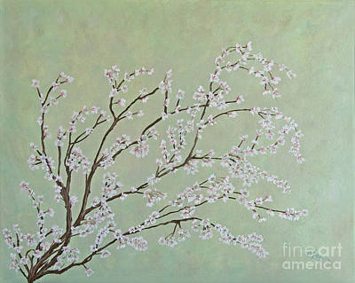 Painting - Plum Blossoms by Cindy Lee Longhini