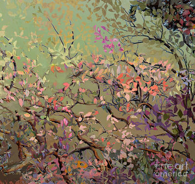 Plum Blossoms Art Print by Ursula Freer
