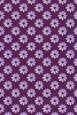 Sixties Mixed Media - Plum Daisies by Jenny Armitage
