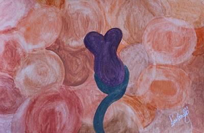 Painting - Plum Flower by Gina Bonelli