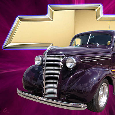 Digital Art - Plumb Crazy Chevy Squared by Chris Thomas