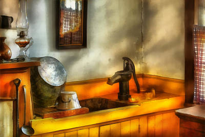 Digital Art - Plumber - The Wash Basin by Mike Savad