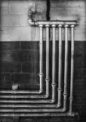Old Fashioned Photograph - Plumbing Symmetry by Susan Candelario