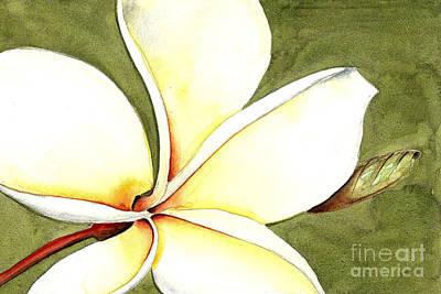 Painting - Plumeria Flower by Elena Feliciano