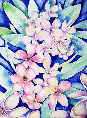 Plumerias Of Maui Art Print