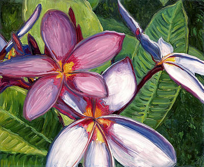 Hana Painting - Plumerias by Stacy Vosberg