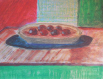 Painting - Plums 1 by Richard W Linford