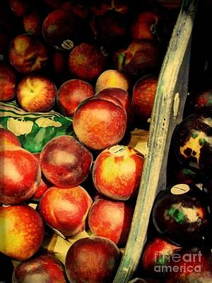 Art Print featuring the photograph Plums And Nectarines by Miriam Danar