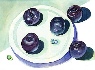 Painting - Plums by Katherine Miller