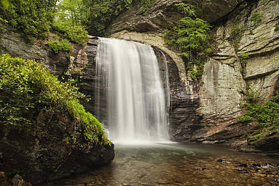 Pisgah Photograph - Plunging Waterfall by Andrew Soundarajan