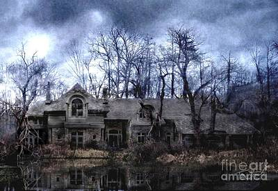 Mansion Digital Art - Plunkett Mansion by Tom Straub