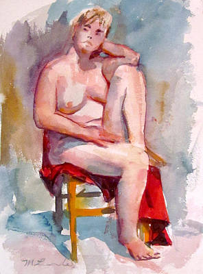 Painting - Plus Size Nude by Mark Lunde